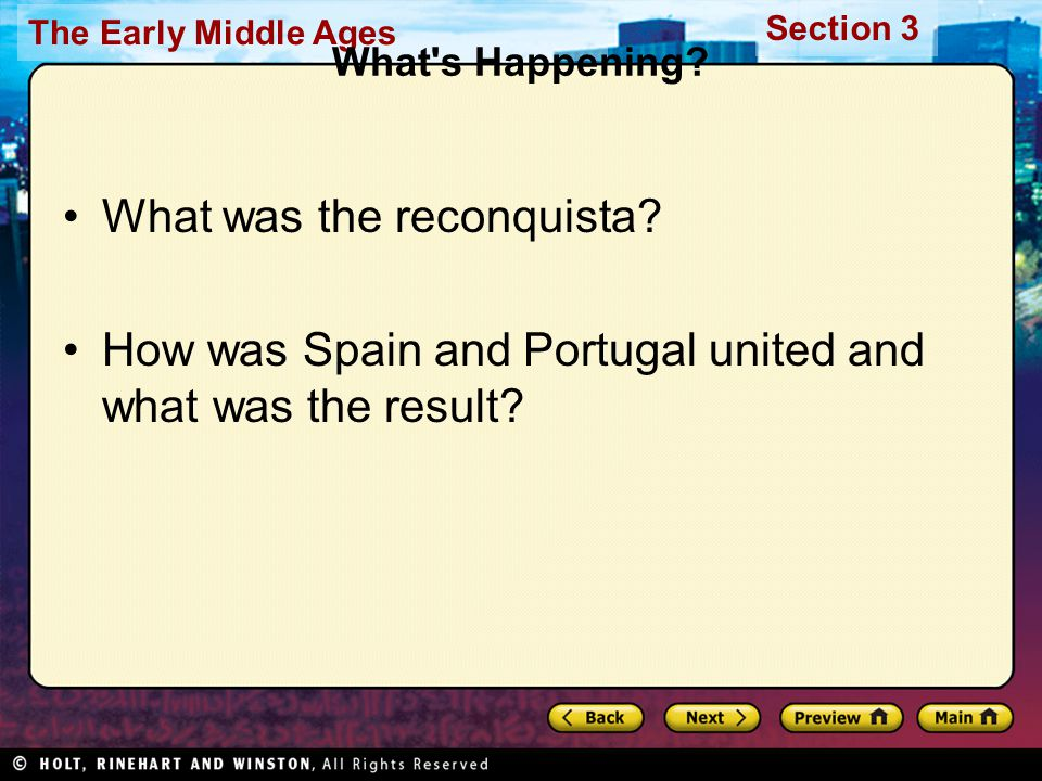 What was the reconquista