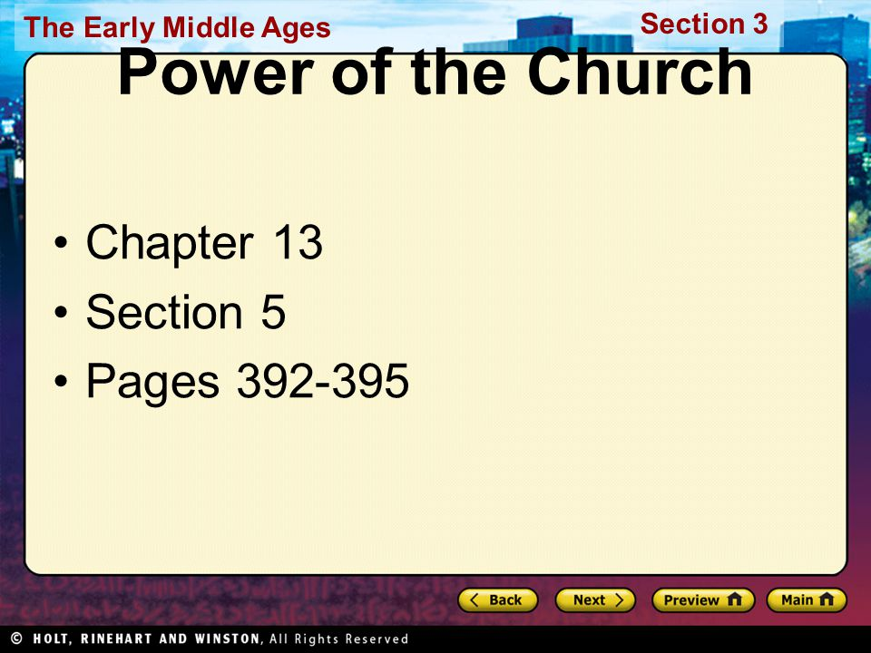 Power of the Church Chapter 13 Section 5 Pages 392-395