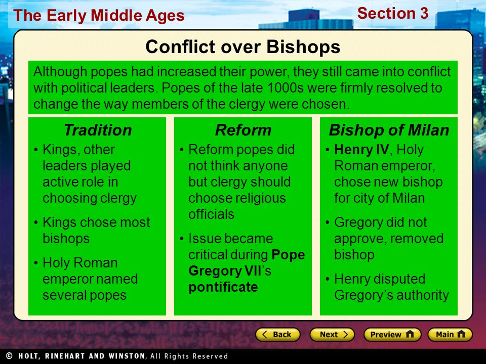 Conflict over Bishops Tradition Reform Bishop of Milan