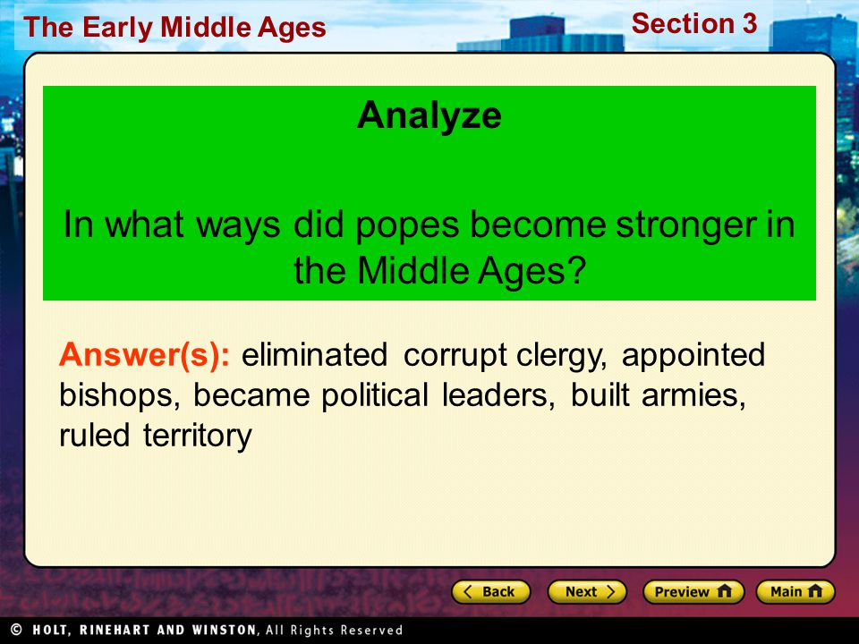 In what ways did popes become stronger in the Middle Ages