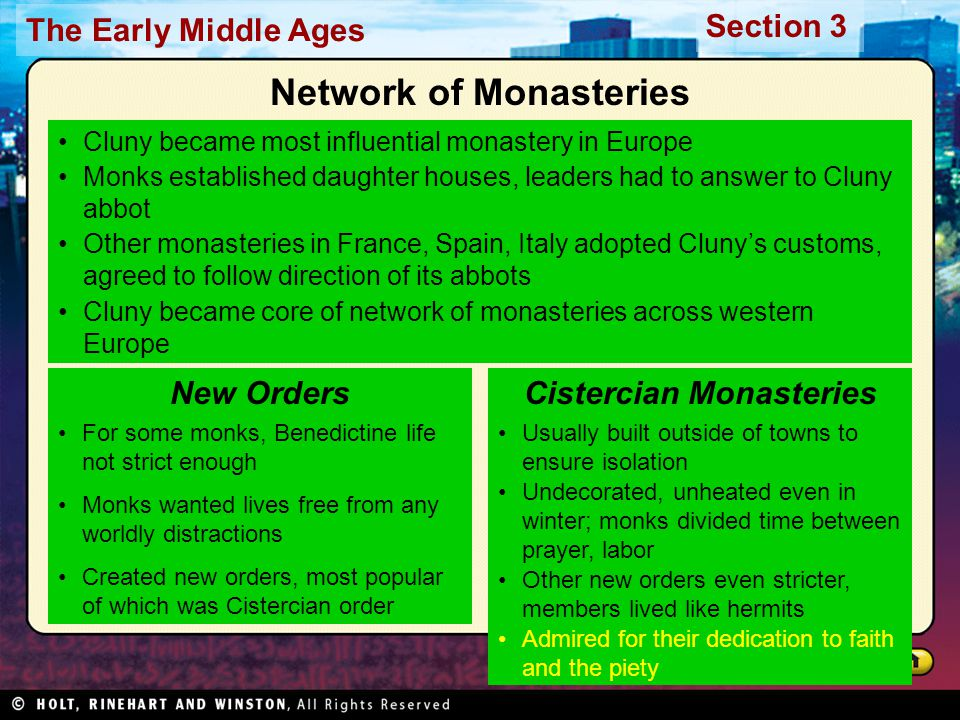 Network of Monasteries