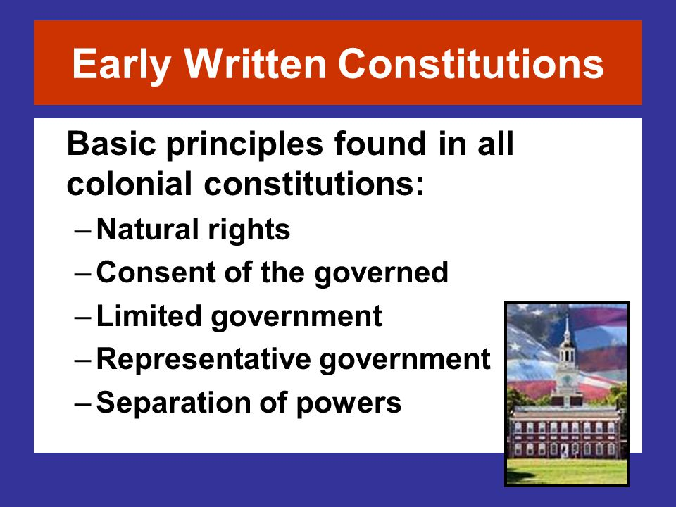 Early Written Constitutions