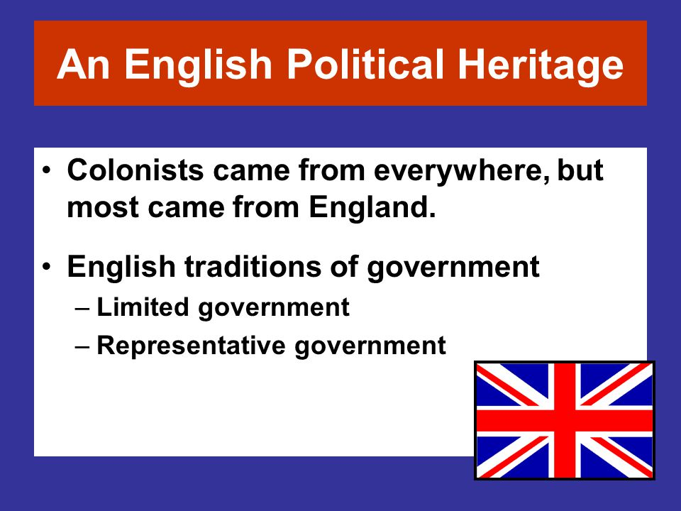 An English Political Heritage