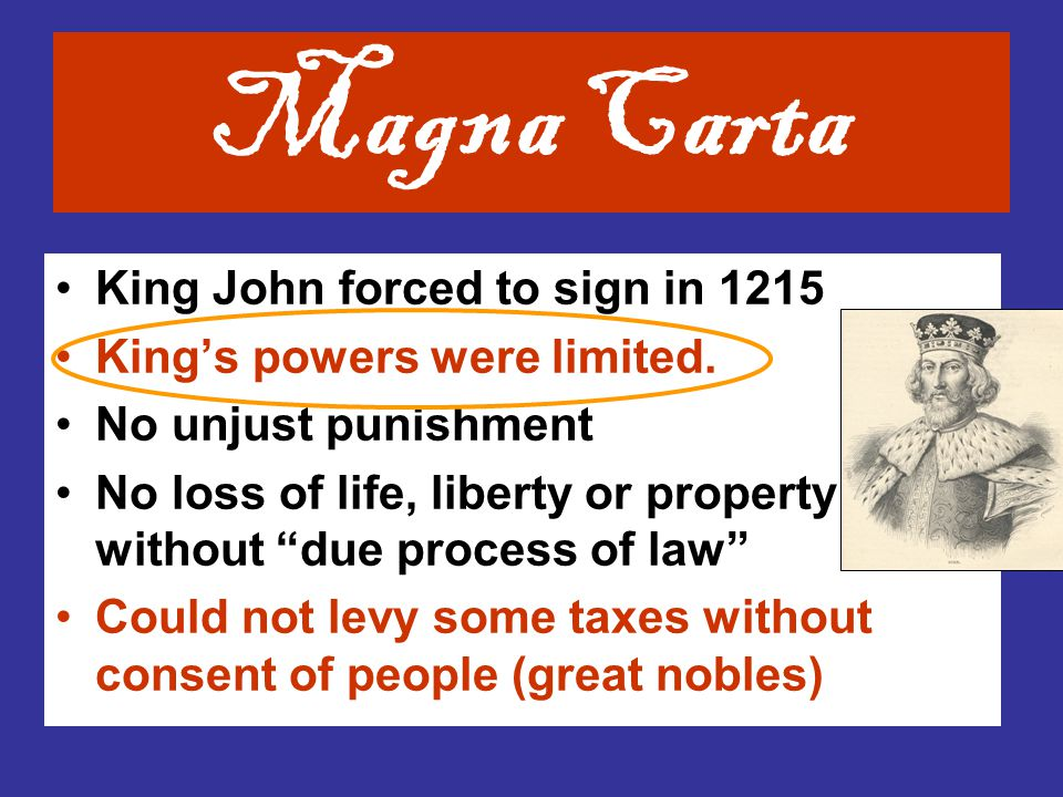 Magna Carta King John forced to sign in 1215