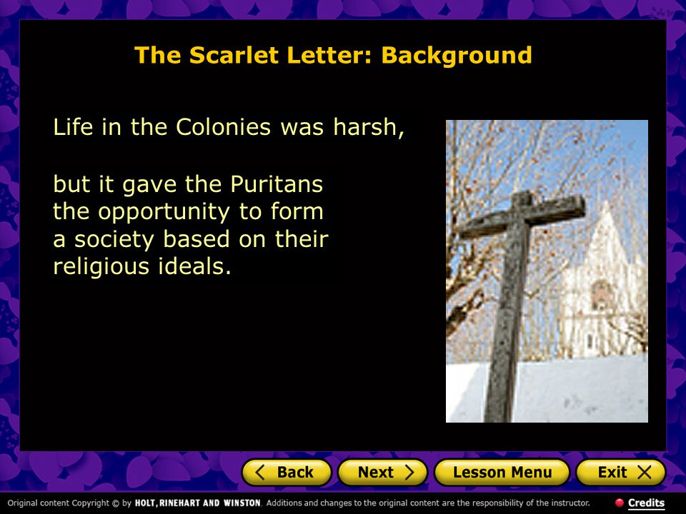 The Scarlet Letter: Background