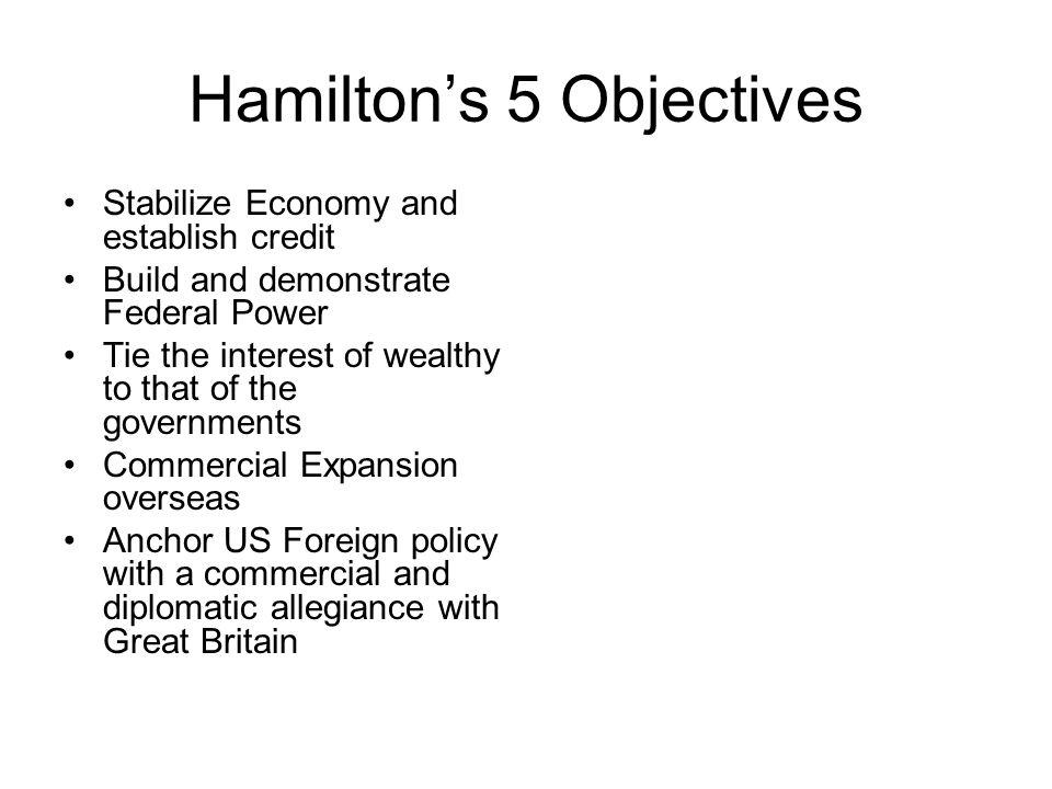 Hamilton's 5 Objectives