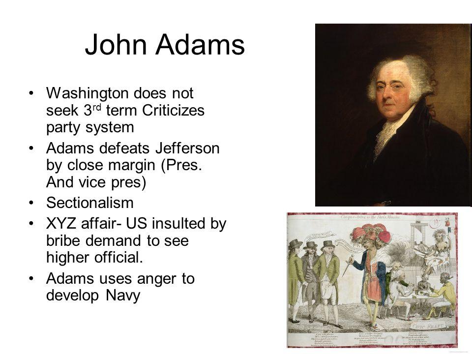 John Adams Washington does not seek 3rd term Criticizes party system