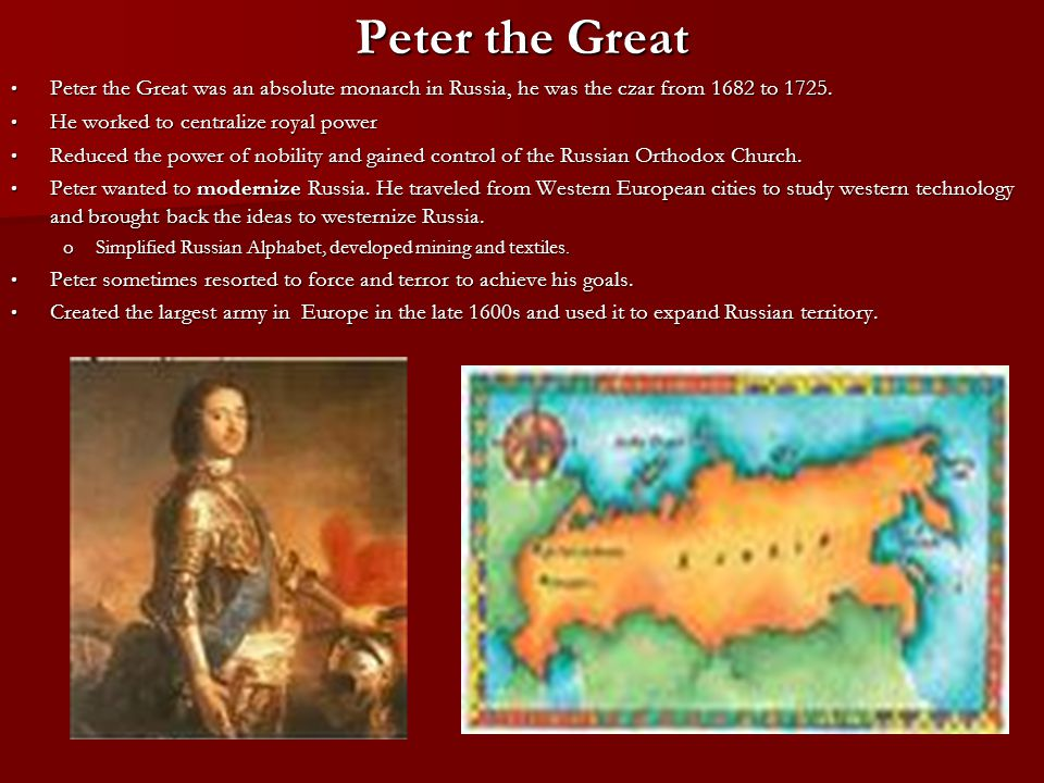 absolutism and peter the great analysis Absolutism peter the great, louis xiv, and tokugawa ieyasu  2 peter the great  one of russia's greatest reformers when he came to power, russia   absolutism sswh14 the student will analyze the age of revolutions and  rebellions a.