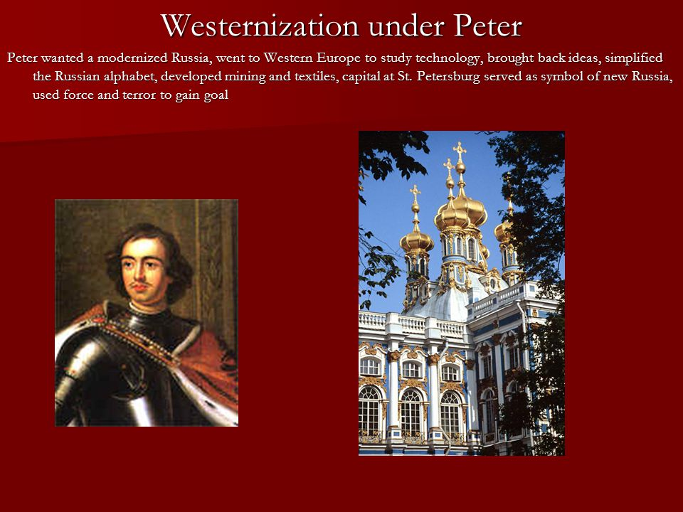 Westernization under Peter