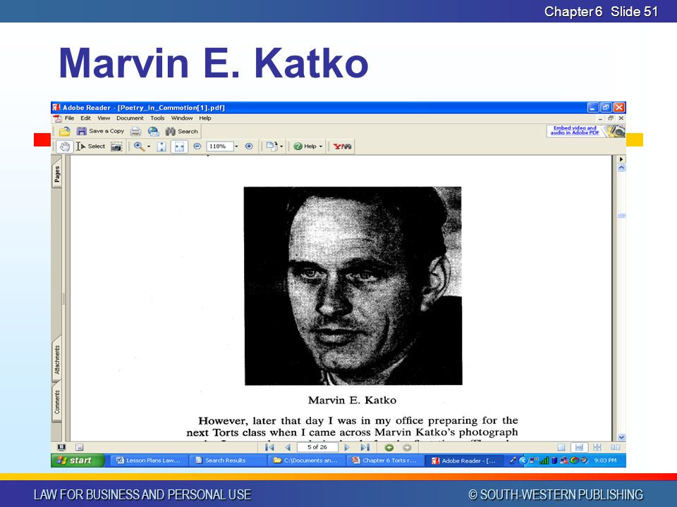 CHAPTER 6 4/14/2017 Chapter 6 Marvin E. Katko