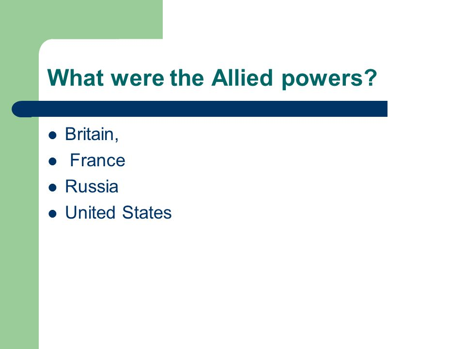 What were the Allied powers