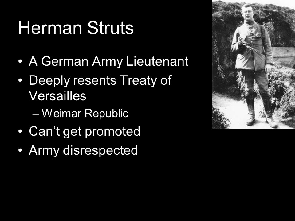 Herman Struts A German Army Lieutenant