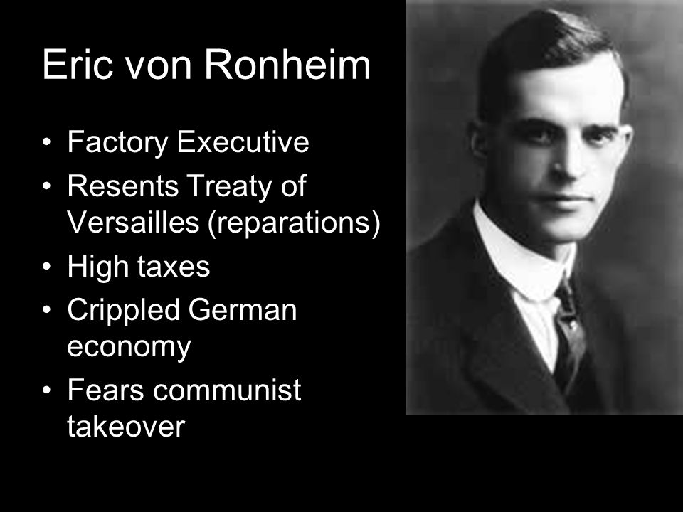 Eric von Ronheim Factory Executive