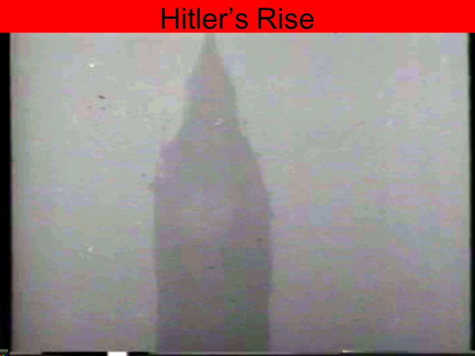 Hitler's Rise Hitler's Rise to Power
