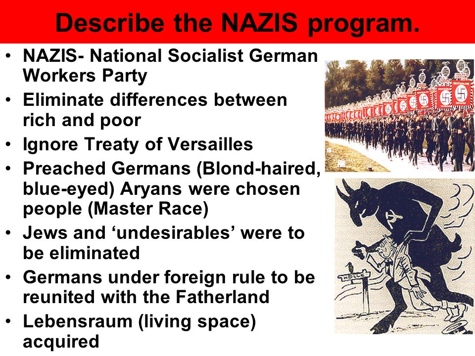 Describe the NAZIS program.