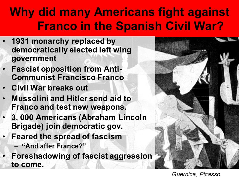 Why did many Americans fight against Franco in the Spanish Civil War