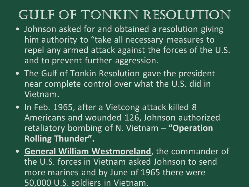 GULF OF TONKIN RESOLUTION