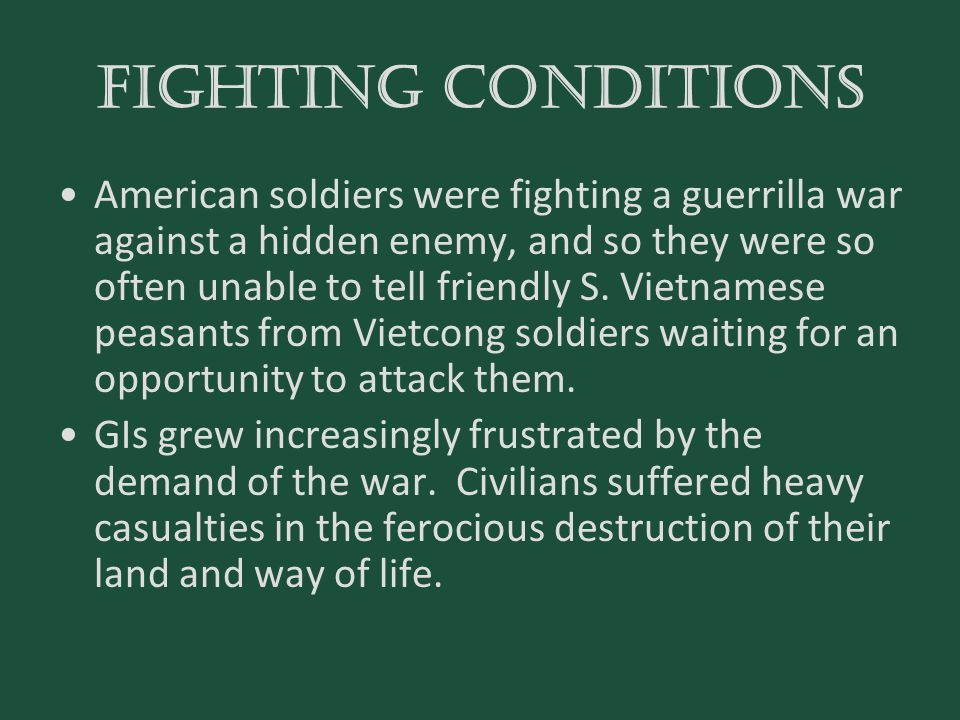 FIGHTING CONDITIONS
