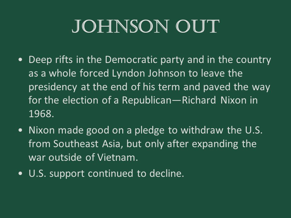 Johnson out