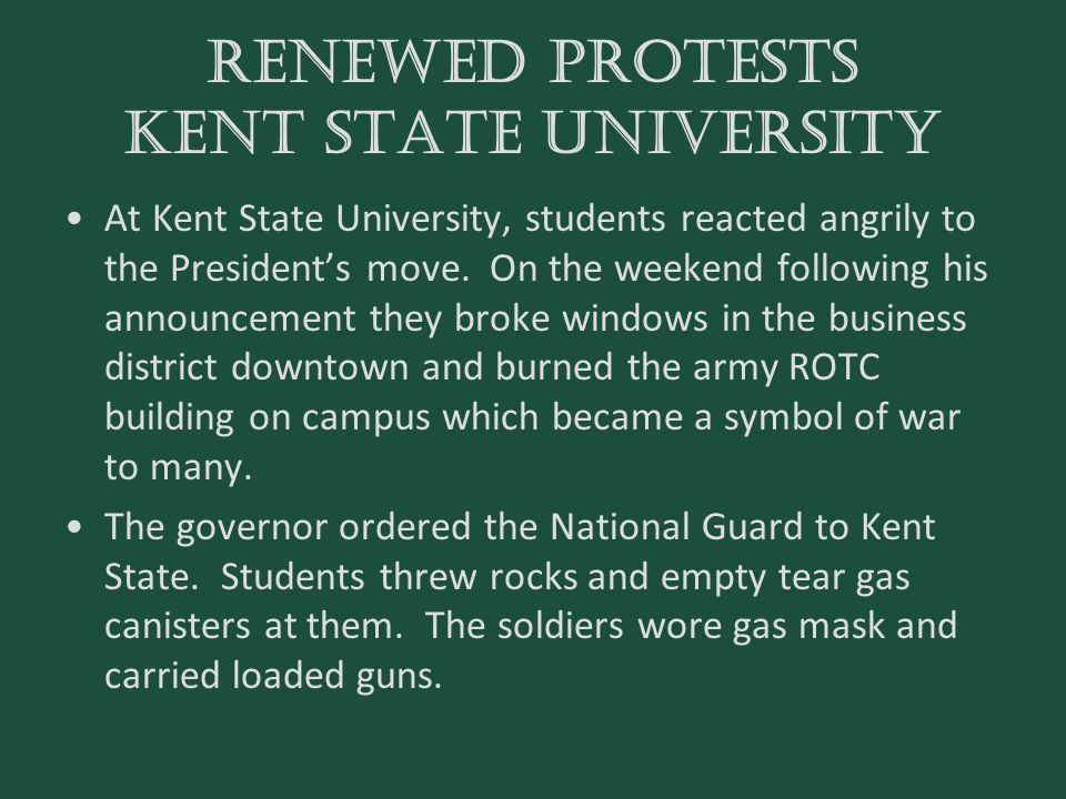 Renewed Protests Kent state university