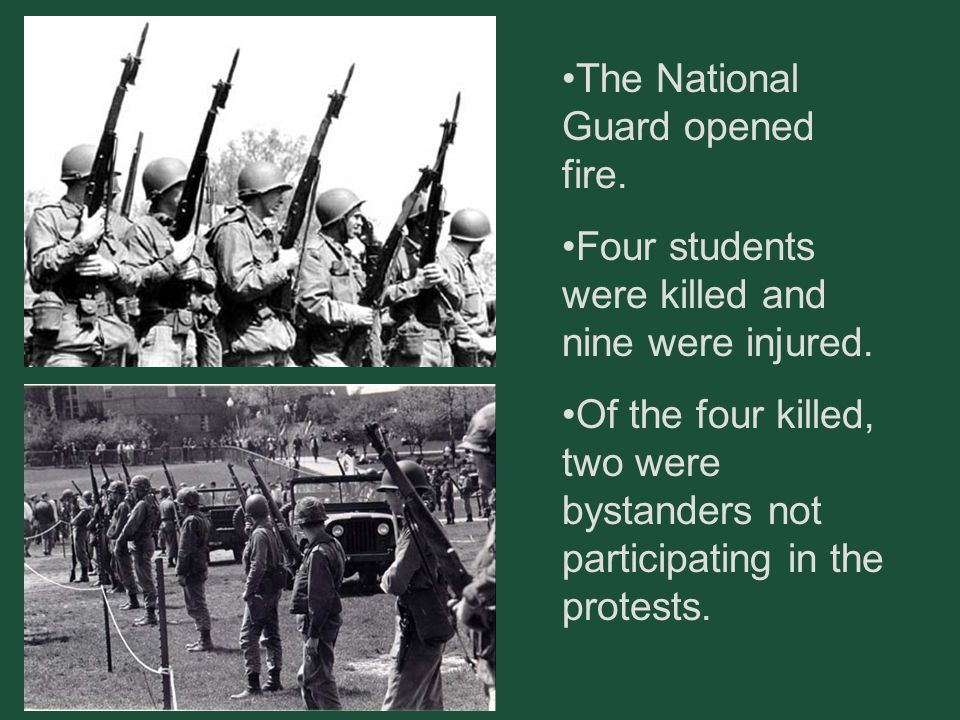 The National Guard opened fire.
