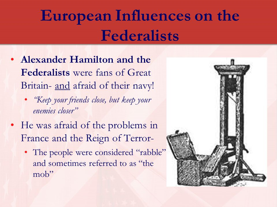 European Influences on the Federalists