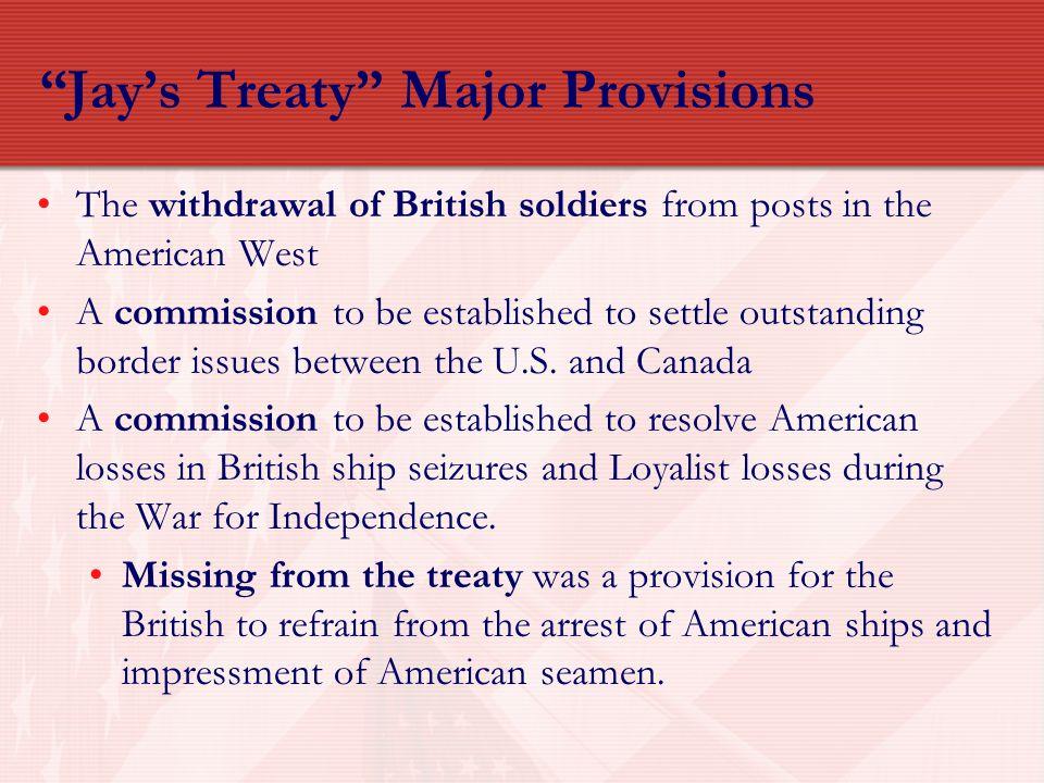 Jay's Treaty Major Provisions