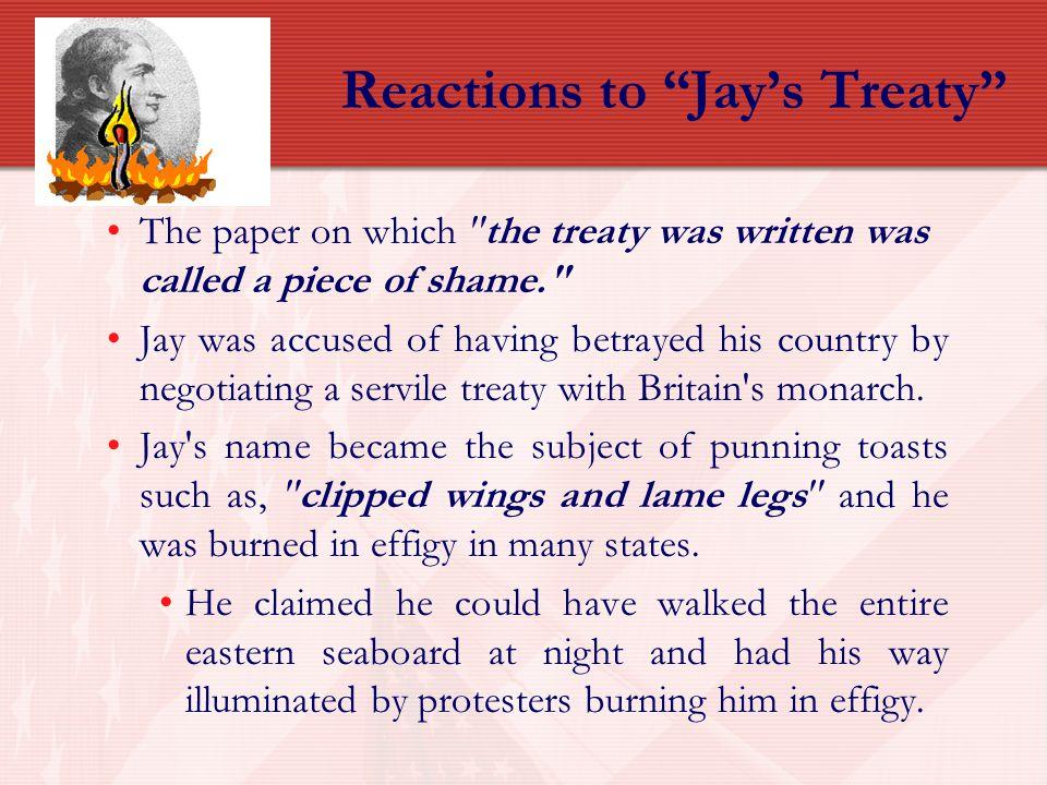 Reactions to Jay's Treaty