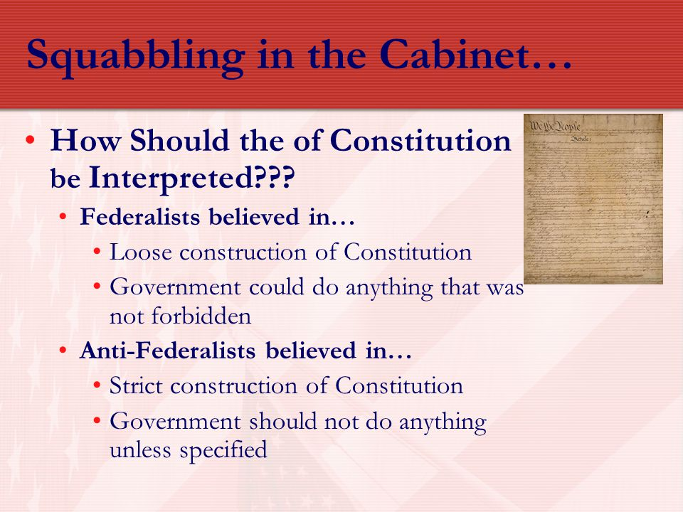 Squabbling in the Cabinet…