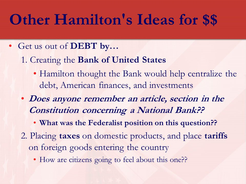 Other Hamilton s Ideas for $$