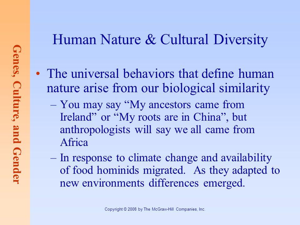 Human Nature & Cultural Diversity