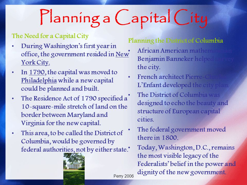 Planning a Capital City