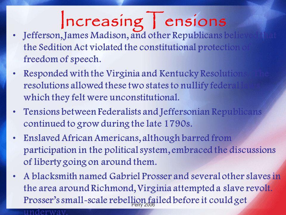 Increasing Tensions