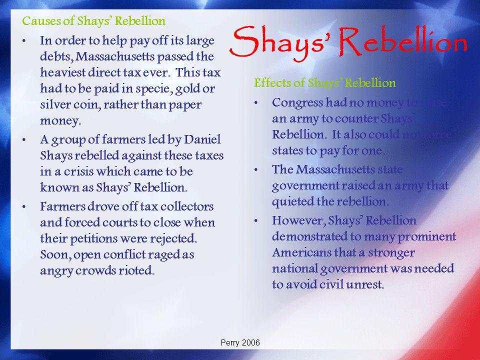 Shays' Rebellion Causes of Shays' Rebellion