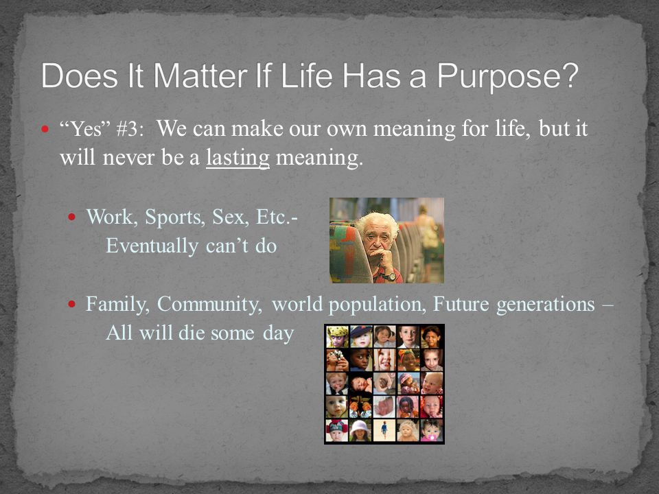 Does It Matter If Life Has a Purpose
