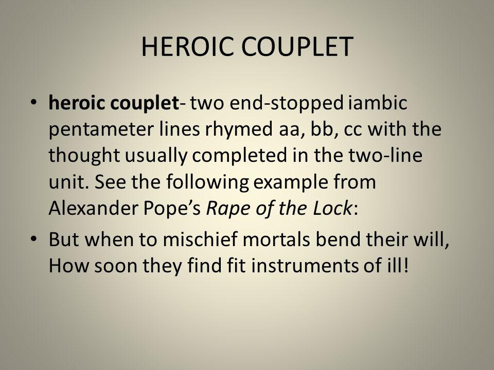 HEROIC COUPLET