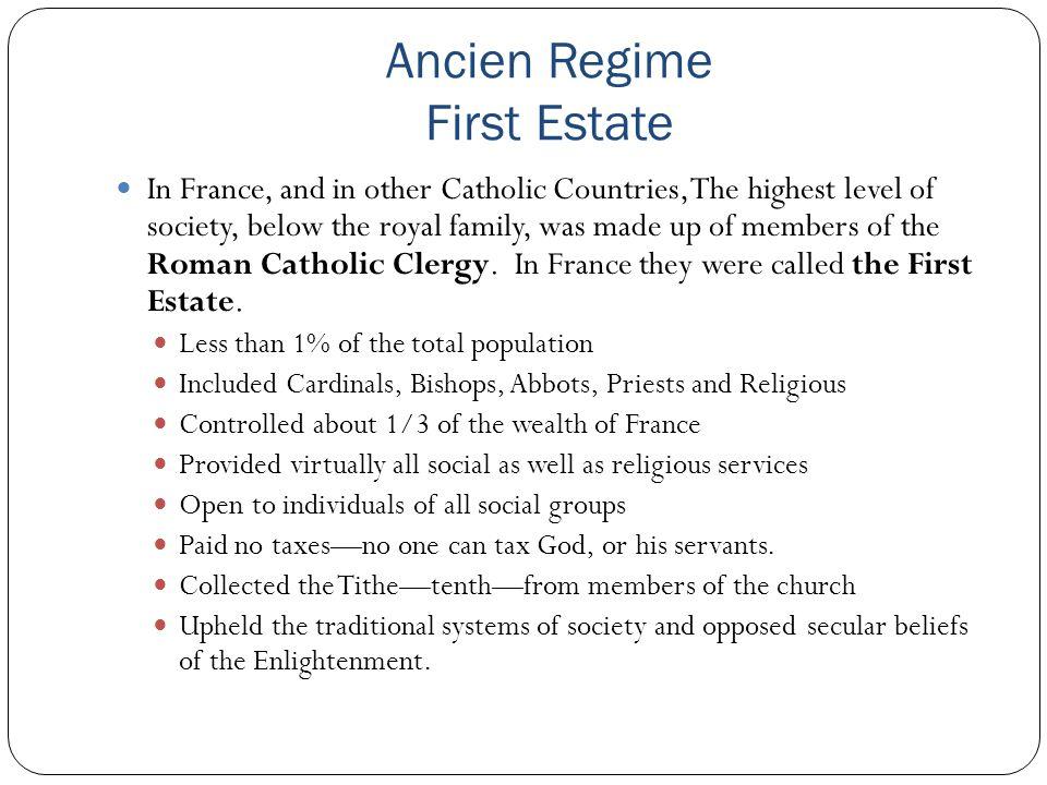 Ancien Regime First Estate