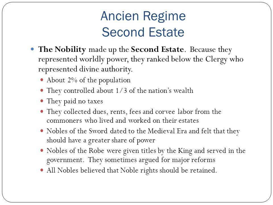 Ancien Regime Second Estate