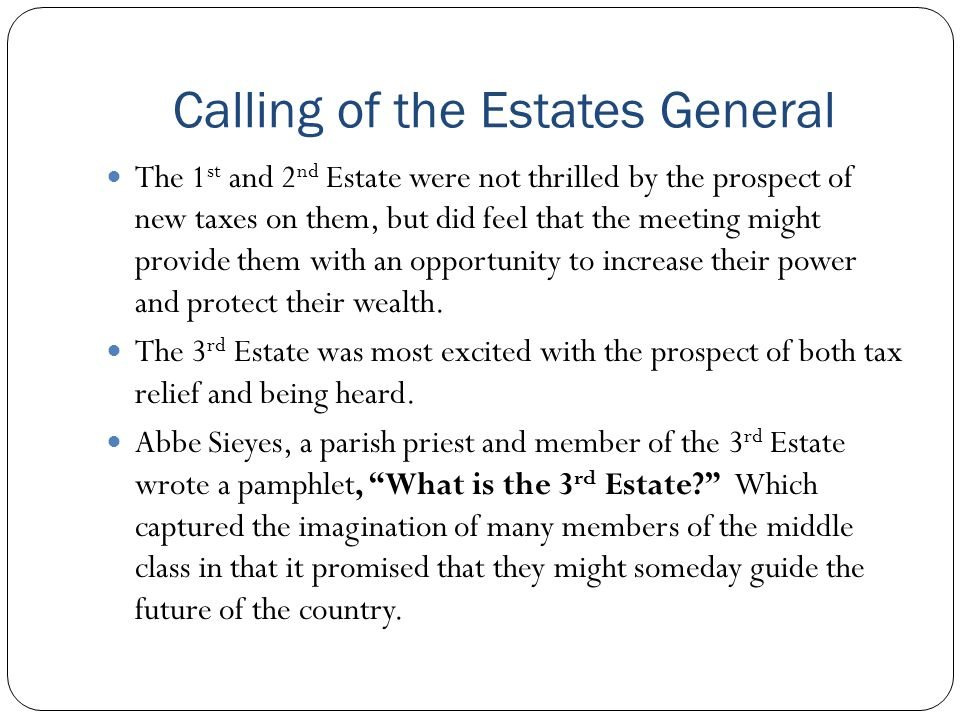 Calling of the Estates General
