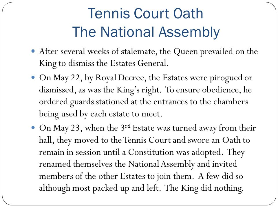 Tennis Court Oath The National Assembly