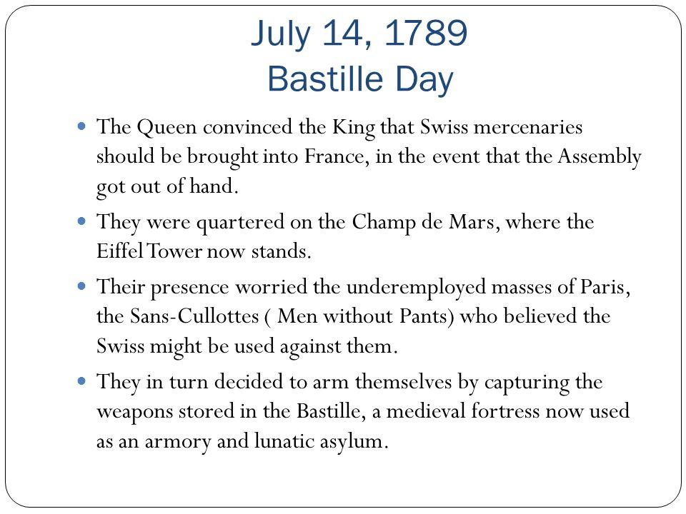 July 14, 1789 Bastille Day