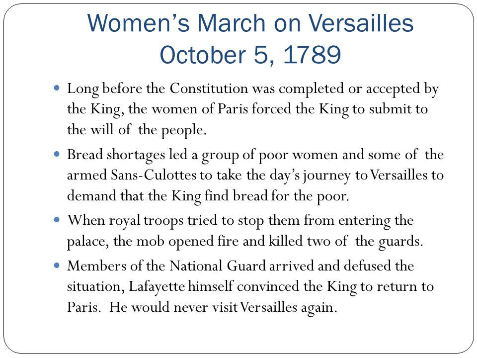 Women's March on Versailles October 5, 1789