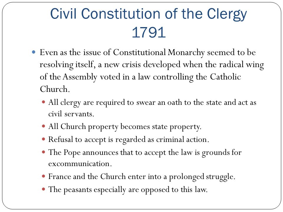 Civil Constitution of the Clergy 1791