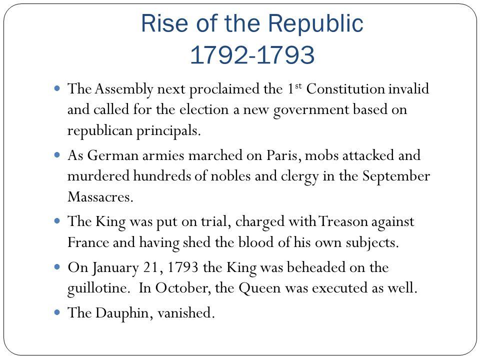 Rise of the Republic 1792-1793