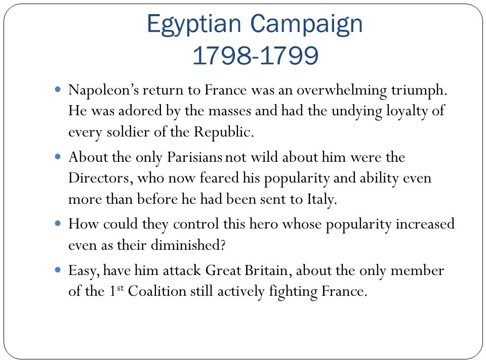 Egyptian Campaign 1798-1799