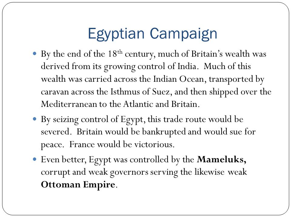 Egyptian Campaign