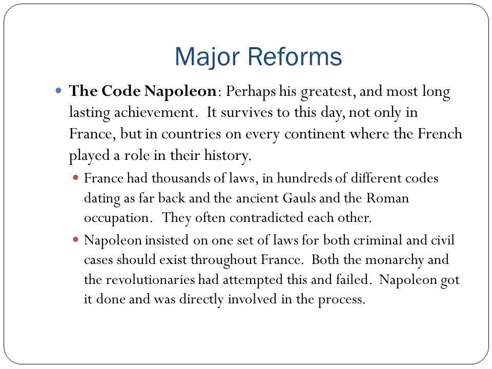Major Reforms