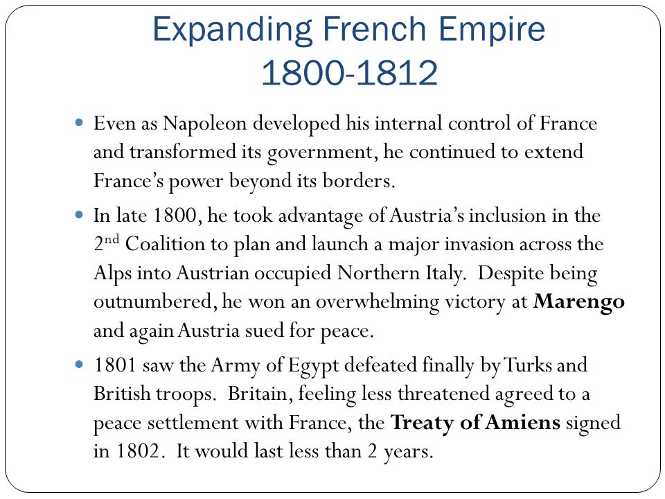 Expanding French Empire 1800-1812