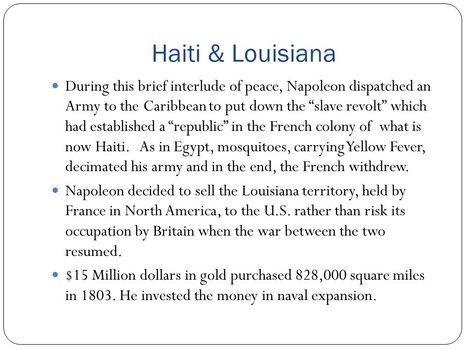 Haiti & Louisiana