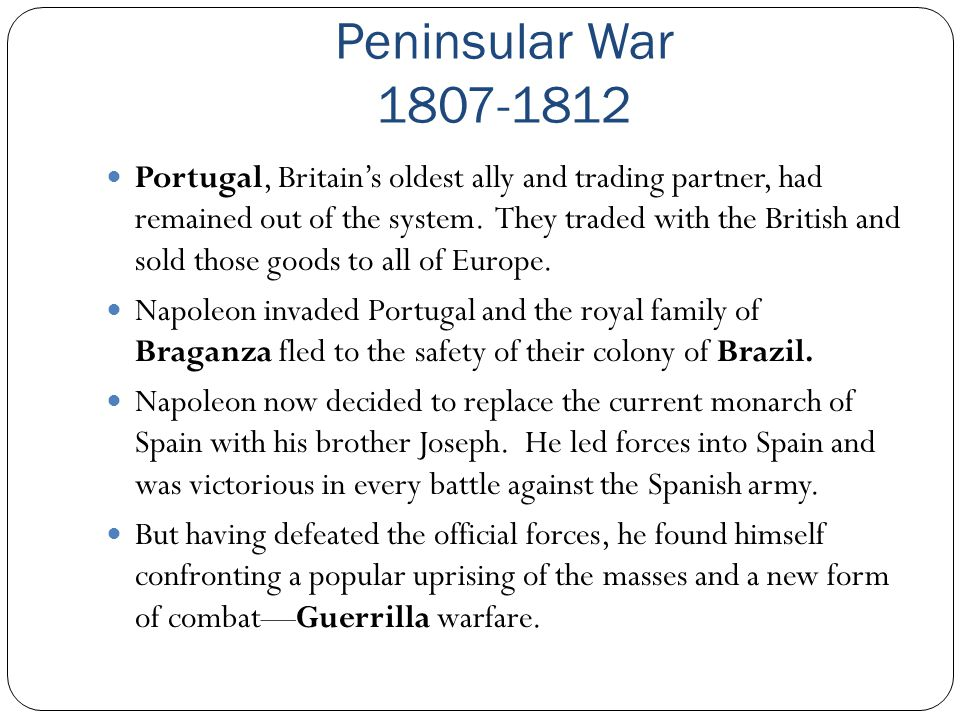 Peninsular War 1807-1812